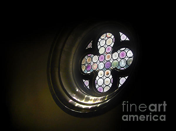 Venice Italy - Rose Window Print by Gregory Dyer