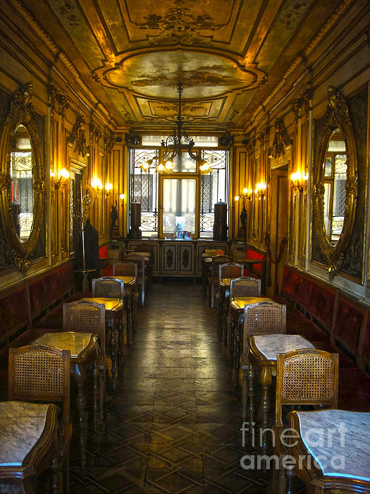 Venice Italy - Tea Room Print by Gregory Dyer