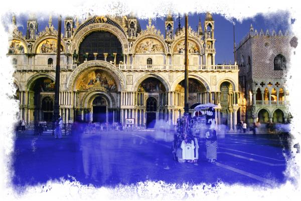 Venice Saint Mark Basilique By Night Italy Europe Photograph  - Venice Saint Mark Basilique By Night Italy Europe Fine Art Print