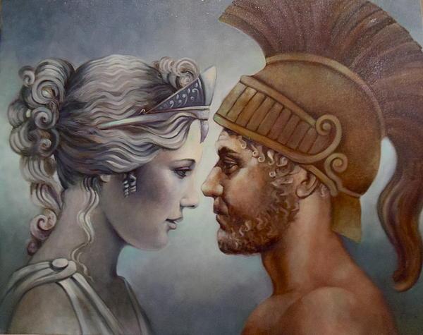 Venus And Mars Print by Geraldine Arata