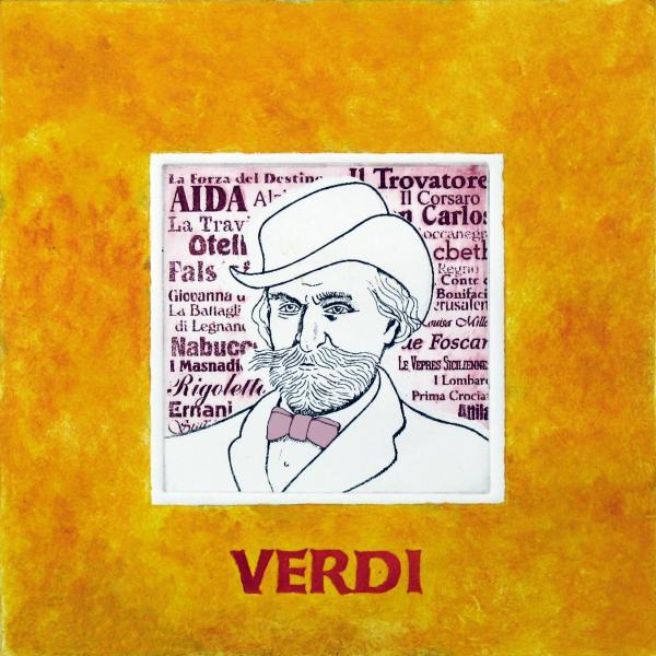 Verdi Portrait Print by Paul Helm