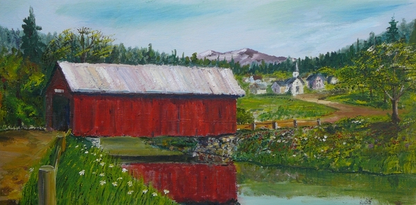 Vermont Covered Bridge Print by Russ Harriger