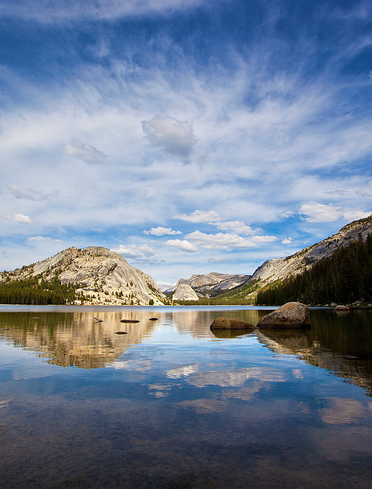 Vertical Version Of Lake Tenaya Print by Mimi Ditchie Photography
