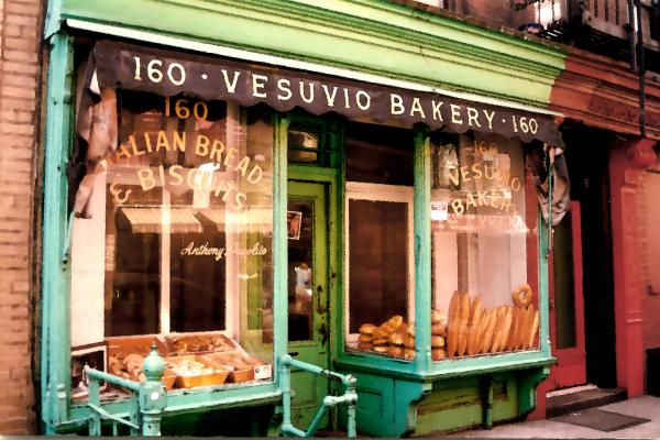 Vesuvio Bakery Print by Linda  Parker