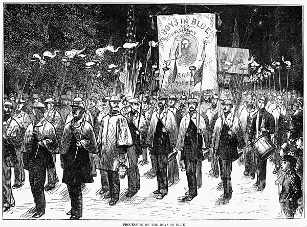 Veteran March, 1876 Print by Granger