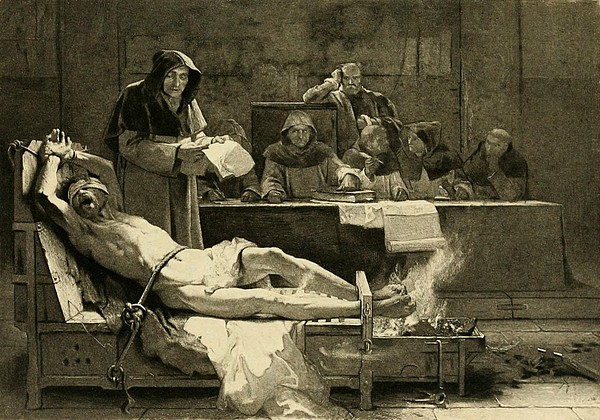 Victim Of The Spanish Inquisition Print by Everett