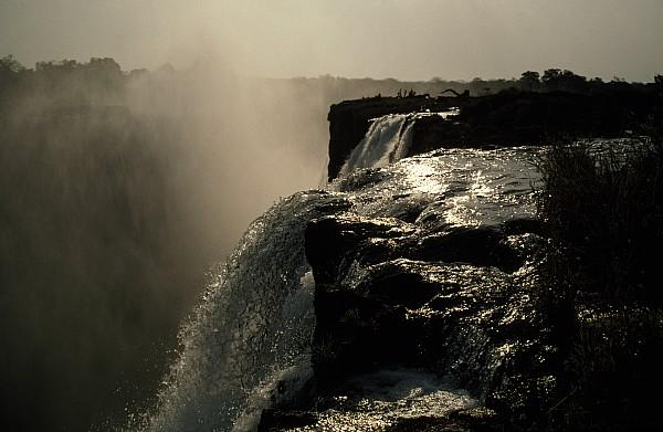 Victoria Falls And Zambezi River Shot Print by Jason Edwards