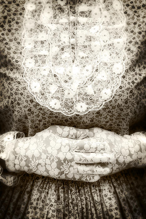 Victorian Hands Print by Joana Kruse