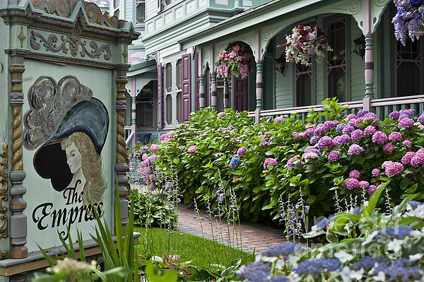 Victorian House And Gardens Print By John Greim