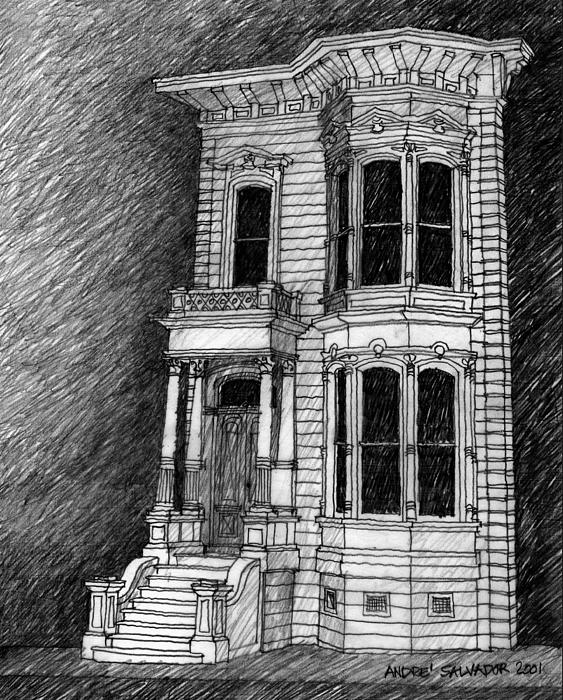 Old Victorian House Drawing Victorian Style House Drawing