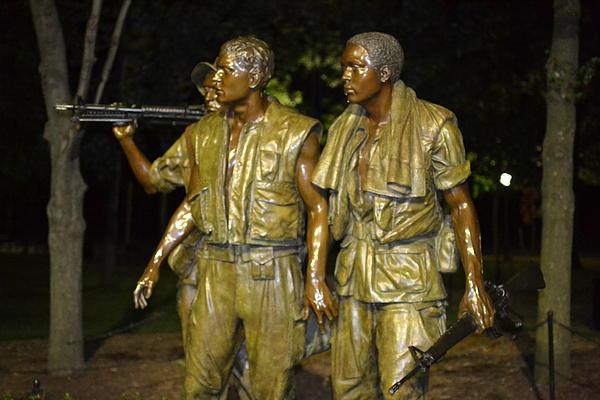 George Bostian - Vietnam Memorial at night 08-12-12 003