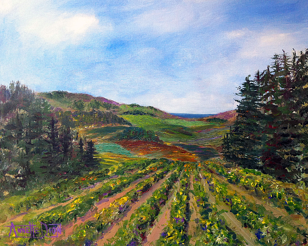 View From Soquel Vineyards Print by Annette Dion McGowan