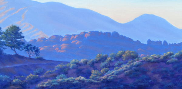 View Of El Scorpion Park Painting  - View Of El Scorpion Park Fine Art Print