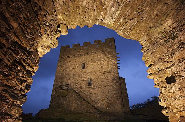 View Of Medieval Dolwyddelan Castle Print by Jim Richardson