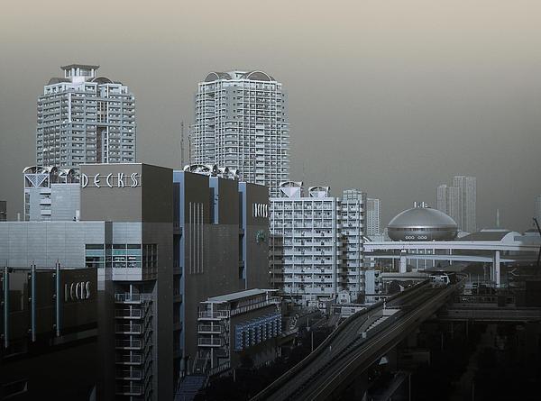 View Of Modern Tokyo Print by Naxart Studio