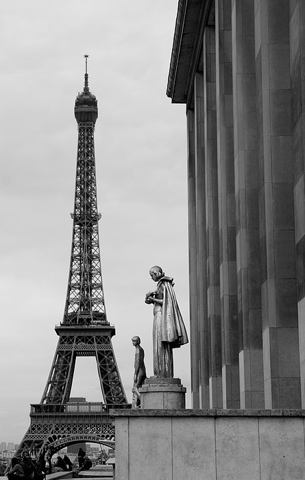 View Of Paris France With Eiffel Tower Print by Win Initiative