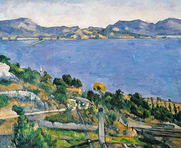 View Of The Bay Of Marseilles Print by Paul Cezanne
