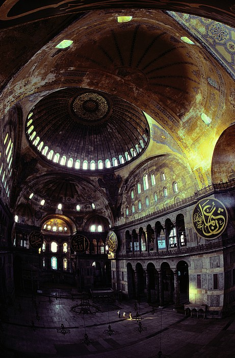 View Of The Interior Of Hagia Sophia Print by James L. Stanfield