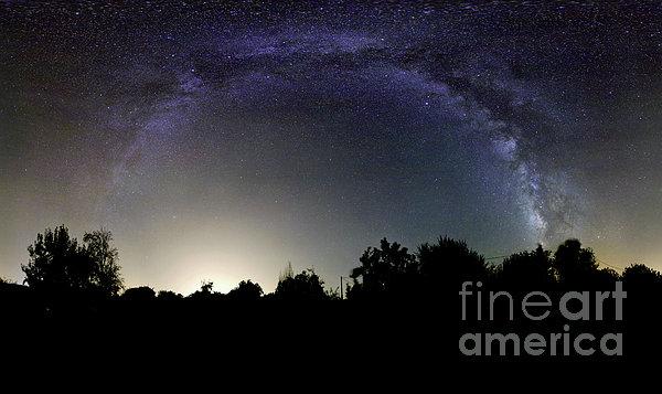 View Of The Milky Way Taken In Elvas Print by Miguel Claro