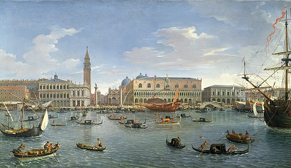 View Of Venice From The Island Of San Giorgio Print by Gaspar van Wittel