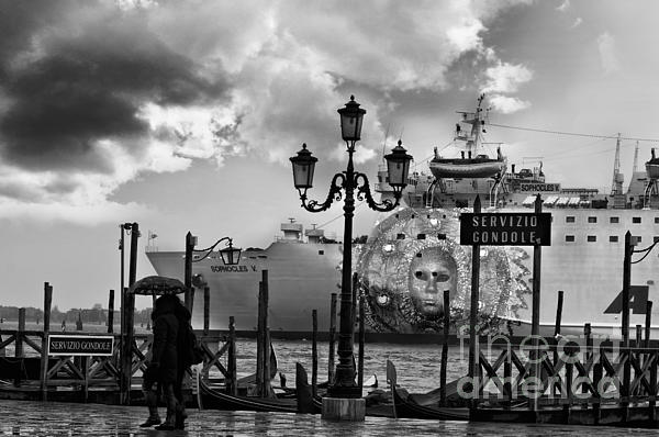 View On Canale Di San Marco In Venice Print by Design Remix