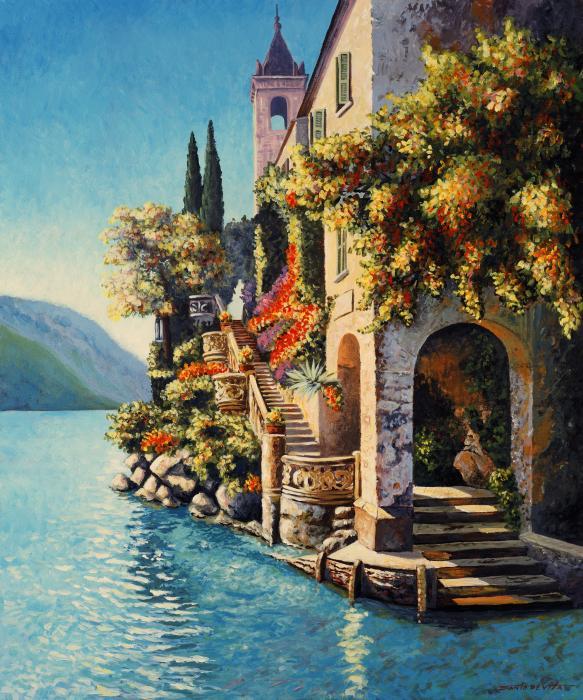 Villa Balbianello Lake Como Print by Santo De Vita