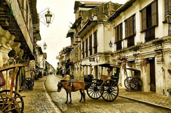 Ella Goncear - Village Horse Cart