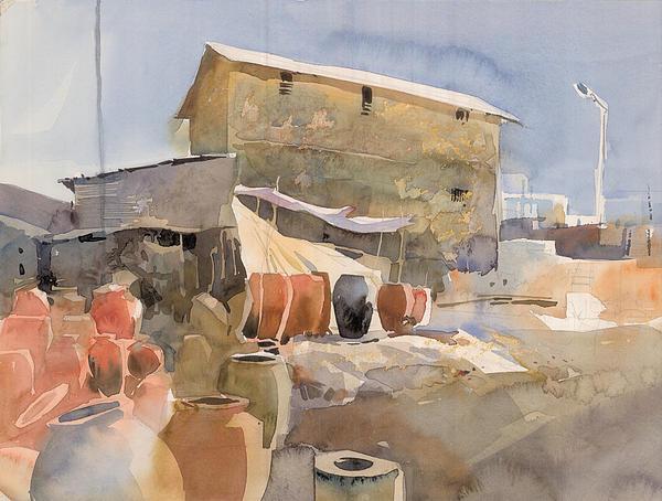 Village House 2 Print by Milind Mulick