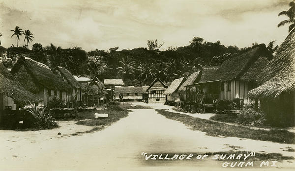 Village Of Sumay Guam Print by eGuam Photo
