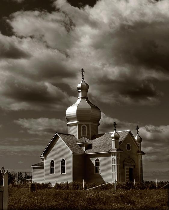 Vintage Church Print by Jerry Cordeiro