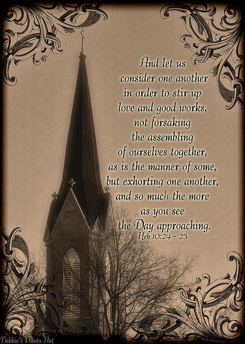 Debbie Portwood - Vintage Church Seeple Greeting card with verse