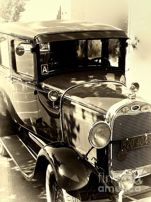 Vintage Classic Ride Print by Julie Palencia