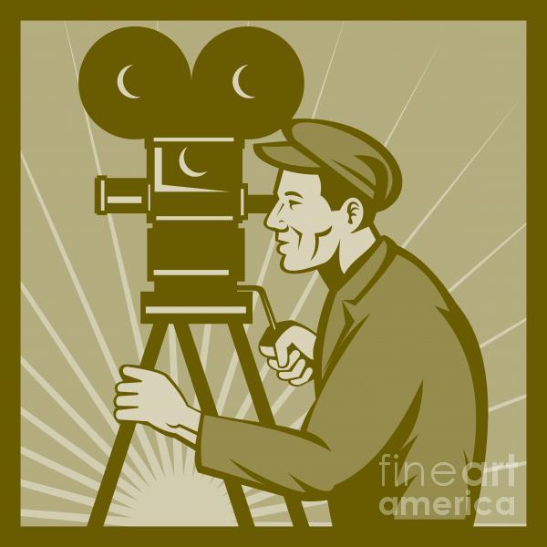 Vintage Film Camera Director Print by Aloysius Patrimonio