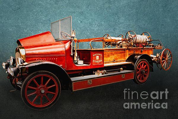 Vintage Fire Truck Print by Jutta Maria Pusl