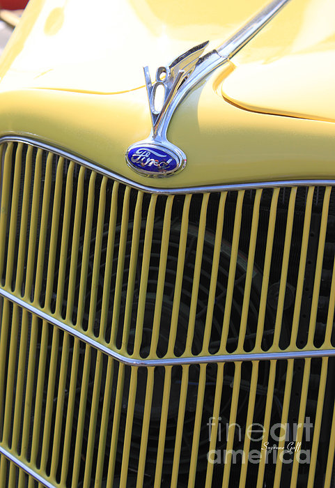Vintage Ford V8 Grill Print by Suzanne Gaff