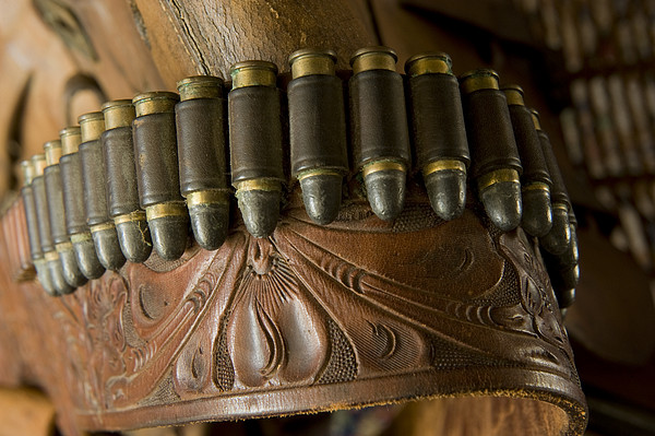 Vintage Holster And Bullets Print by Joel Sartore