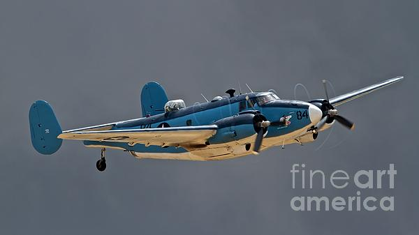 Vintage Naval Twin With Proptip Vortices 2011 Chino Planes Of Fame Air Show Print by Gus McCrea