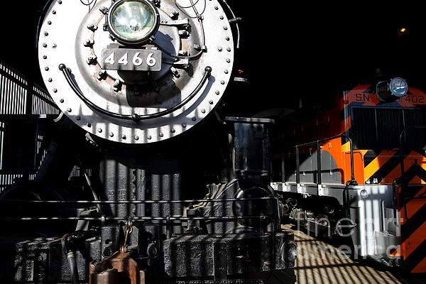 Vintage Railroad Locomotive Trains In The Train House . 7d11633 Print by Wingsdomain Art and Photography