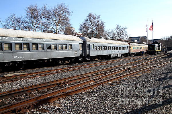 Vintage Railroad Trains . 7d11623 Print by Wingsdomain Art and Photography