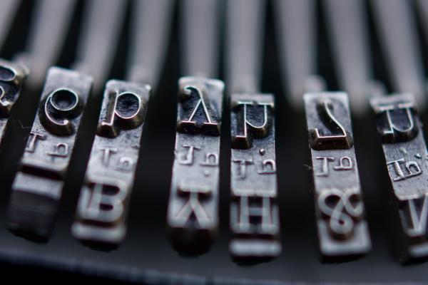 Vintage Typewriter Keys Print by June Marie Sobrito