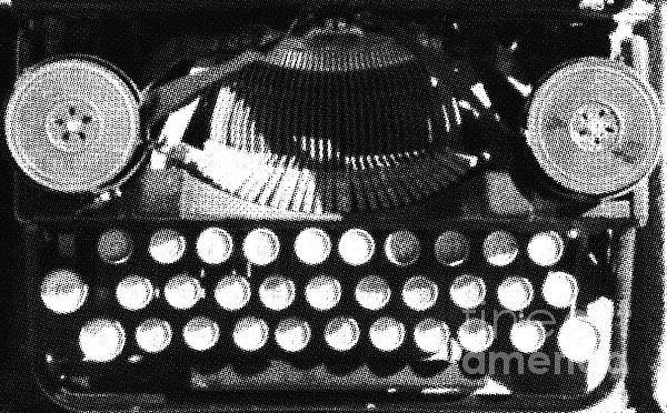 Vintage Typewriter Silk Screen Print by adSpice Studios