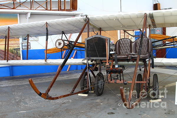 Vintage Wright Brothers Type Airplane . 7d11147 Print by Wingsdomain Art and Photography
