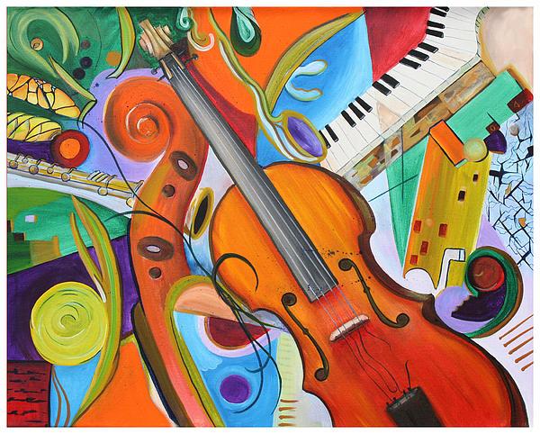 Viola And Friends Print by Alexandra  Kube