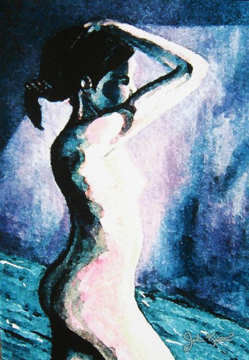 Violet Nude Print by John Keaton