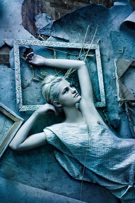 Virgin Blue Print by Agnessa Belvede