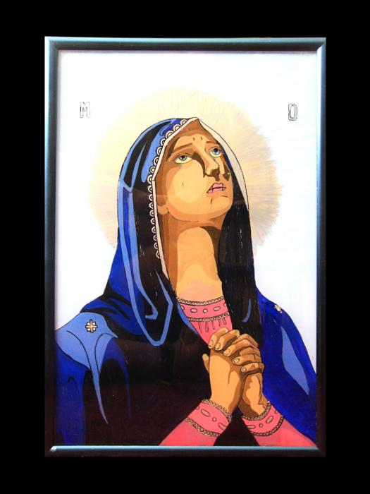 Virgin Mary Praying Painting