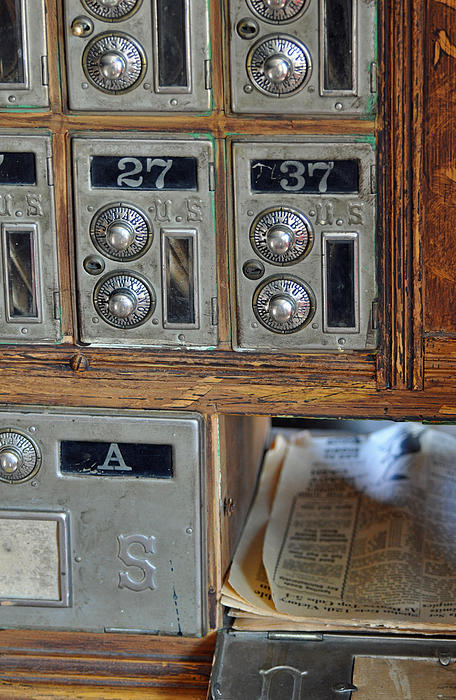 Virginia City Post Office Box Print by Bruce Gourley