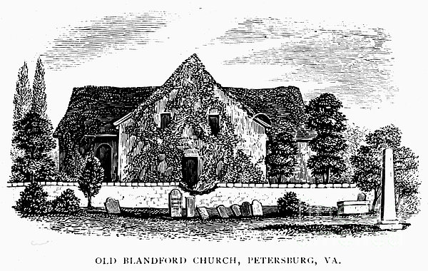 Virginia: Petersburg Church Print by Granger