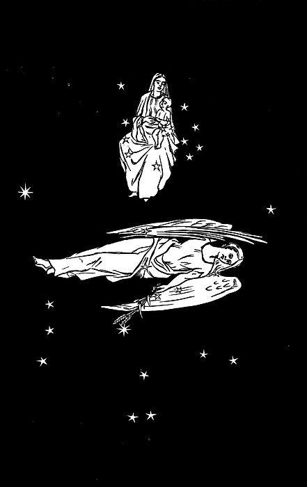 Virgo And Coma Constellations, Artwork Print by