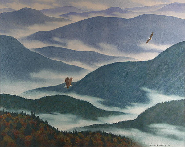 Vision Of The Great Smokies Print by Glen Heberling